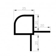 25 mm profil, R25-4R