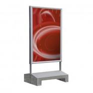 Skiltestander, plakatmål 1000 x 1400 mm, for palleløfter