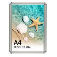 A4-25 mm snapramme - rund