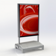Skiltestander, plakatmål 700 x 1000 mm, for palleløfter