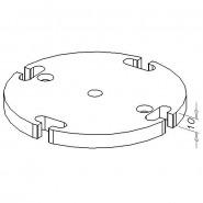 Bundplade, D120-4R-6G/M10