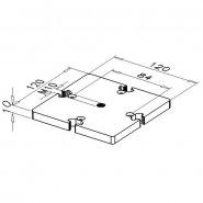 Bundplade, D120-4-6G/M10