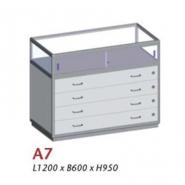 A7, Uni-shop vitrine disk