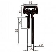 Hængselsprofil M-750-8-9-11