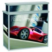 Foldbar messedisk PC-3 med bar, 1070x515x895/1103 mm